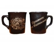 ЧАШКА КОФЕ 0,2Л КОР ДВЕ ДЕКОЛИ керамика оптом, посуда оптом, доставка по всему миру, Славянск