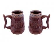 Подарочные БОКАЛЫ 0,7Л (набор 2шт.) КАЗАК керамика оптом, посуда оптом, доставка по всему миру