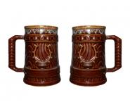 Подарочные БОКАЛЫ 0,7Л (набор 2шт.) ПОДКОВА керамика оптом, посуда оптом, доставка по всему миру