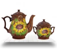 Кофейные, чайные наборы из красной глины оптом с доставкой